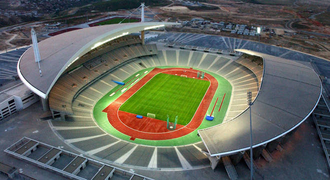 O Ataturk Olympic Stadium de Istambul, na Turquia, sede da final