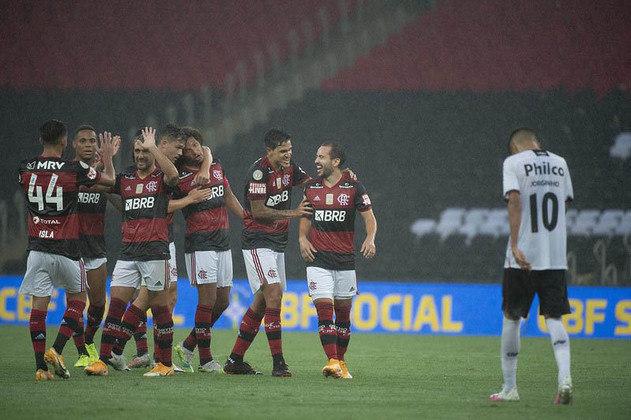 Até aqui, Domènec já comandou o Flamengo em 16 partidas, alcançando um aproveitamento de 56,25% (nove vitórias, três empates e quatro derrotas). O time está na segunda colocação do Brasileirão e classificado para a próxima fase da Taça Libertadores.