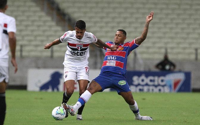 Até mesmo nas vitórias o São Paulo reclamou. Mesmo vencendo por 3 a 2 o Fortaleza, no Castelão, pela 21ª rodada do Brasileirão, o Tricolor reclamou de um possível impedimento de David no gol que abriu o placar para o Leão