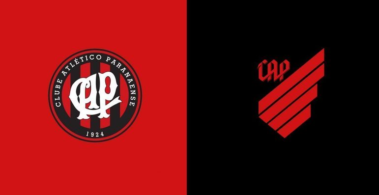 Athletico Paranaense - O Athletico Paranaense lançou o novo escudo em 2019. O símbolo, além da mudança da grafia, tem referências ao vento, devido ao apelido Furacão e à bandeira do Estado do Paraná