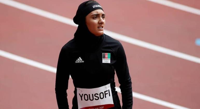 Atleta do Afeganistão durante os jogos Olímpicos de Tóquio 2020