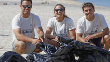 Medalhistas olímpicos dão exemplo e recolhem lixo de praia na Espanha