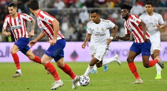 Atlético e Real fizeram o clássico madrilenho na final da Supercopa espanhola