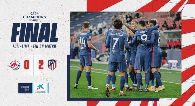 A capa do Twitter do Atlético de Madrid