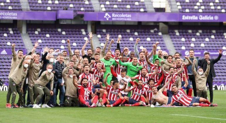 O Atlético de Madrid, campeão da Espanha
