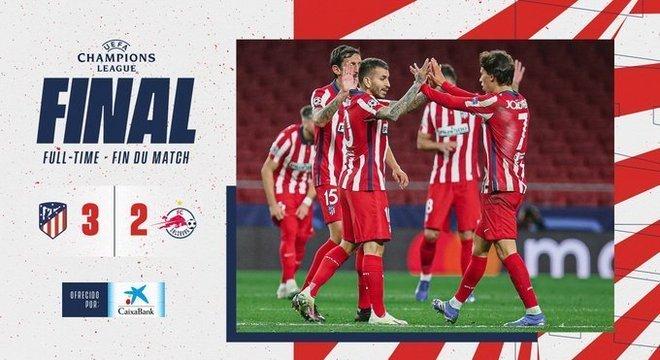 Comemoração no Twitter do Atlético de Madrid