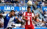 O Atlético de Madrid, atual campeão espanhol, foi surpreendido fora de casa e perdeu por 1 a 0 para o Alavés. Laguardia fez o gol da vitória