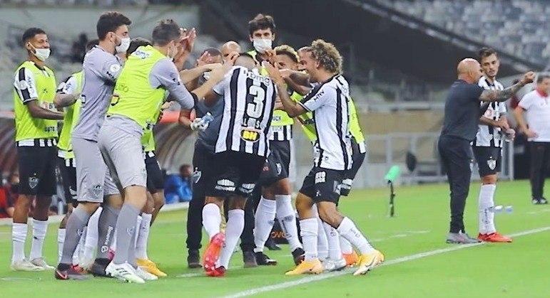 Atlético Mineiro também se recuperou no Brasileiro. Ganhou do Atlético Goianiense, ontem