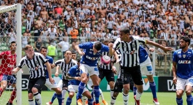 Clássico entre Atlético e Cruzeiro no domingo pode ser o único do ano