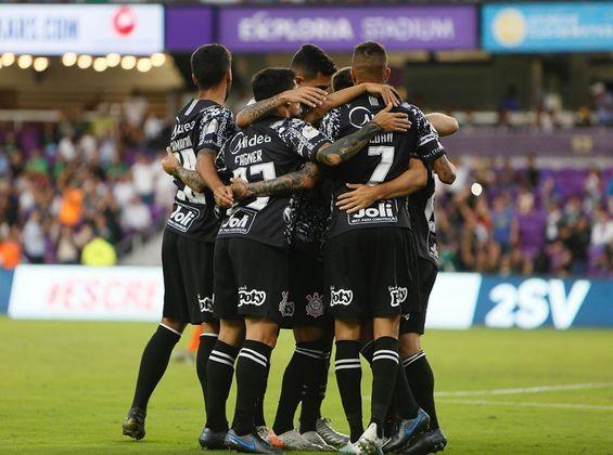 Atlético Nacional 2 x 1 Corinthians (Florida Cup) - Cássio; Fagner, Pedro Henrique, Gil e Lucas Piton; Camacho e Cantillo; Ramiro, Luan e Janderson; Boselli.