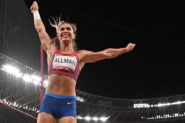 ATLETISMO - A americana Valarie Allman conquistou a medalha de ouro no lançamento de disco.