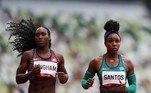 Rosângela dos Santos não passou nas eliminatórias dos 100m rasos