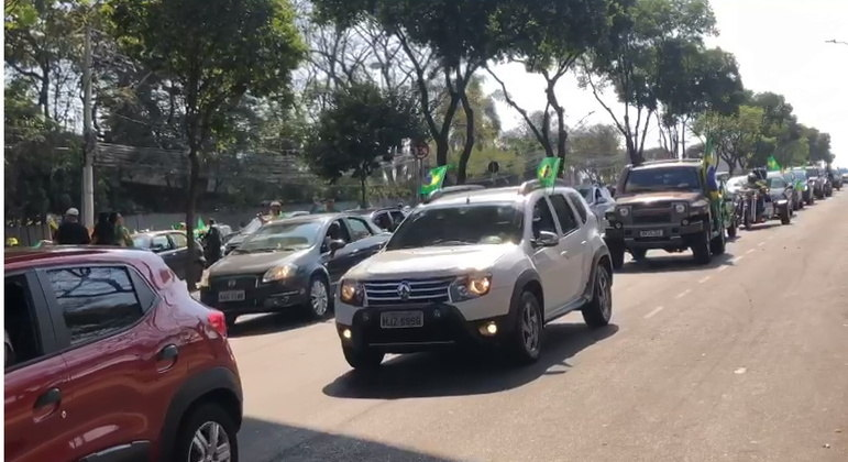 Protesto se concentrou no Mineirão