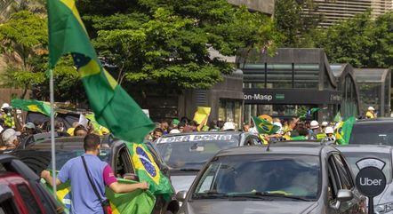 Manifestação contra Doria na avenida Paulista