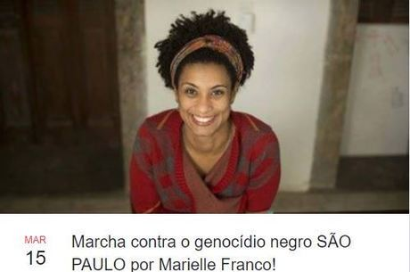 Marielle Franco, assassinada no Rio de Janeiro