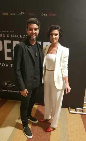 Camila Rodrigues e Fernando Sampaio em pré-estreia do filme