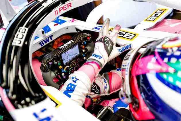 Atrás das duas Renault e de uma McLaren, Sergio Pérez larga em oitavo (Foto: Racing Point)