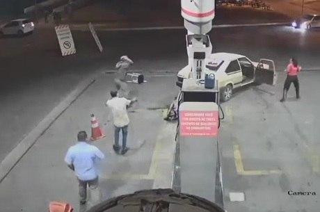 Circuito de segurança flagrou a cena