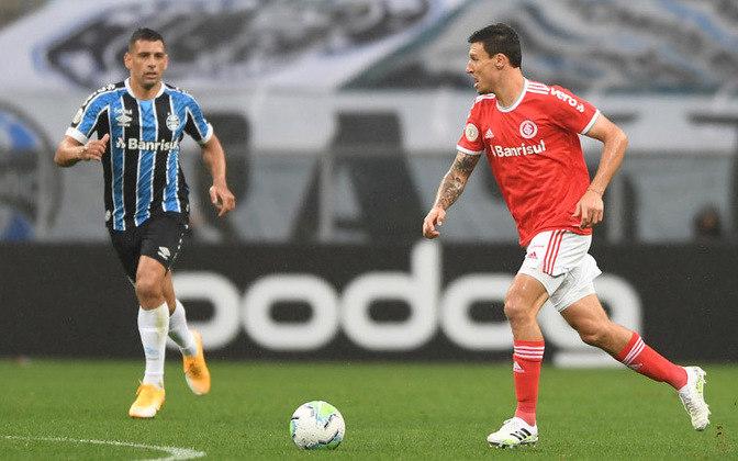 Atualmente, Grêmio e Inter compartilham a marca Vero, que pertence ao Banrisul, e está estampada na manga da camisa dos rivais de Porto Alegre.