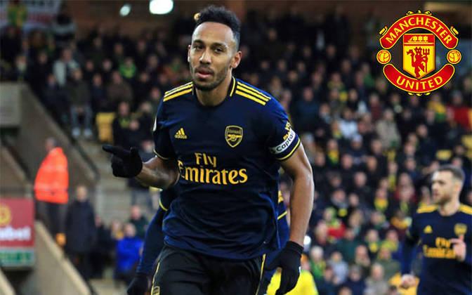 Aubameyang. Posição: Atacante. Idade: 30 anos. Clube atual: Arsenal. Clube interessado: Manchester United.