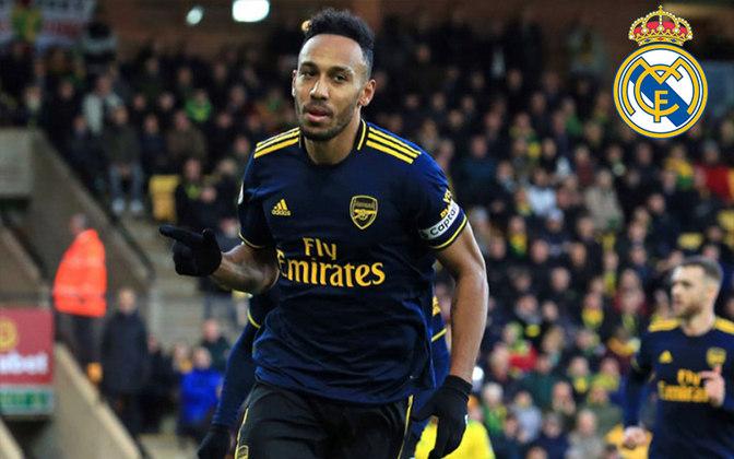 Aubameyang. Posição: Atacante. Idade: 30 anos. Clube atual: Arsenal. Clube interessado: Real Madrid.