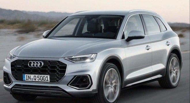 Audi Q5 na discreta cor prata em foto divulgada na Europa: motor será o 2.0 turbo de 204cv