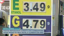 Postos repassaram aumento dos combustíveis antes mesmo da meia-noite