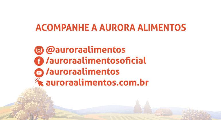 Siga o perfil da Aurora nas redes sociais