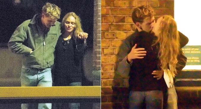 Lily-Rose Depp e Austin Butler se beijaram após jantarem juntos em Londres