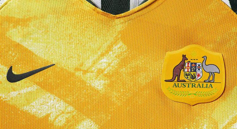 Detalhe da camisa da Austrália