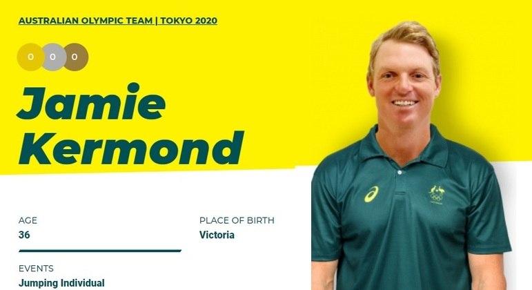 Jamie Kermond está fora da Olimpíada