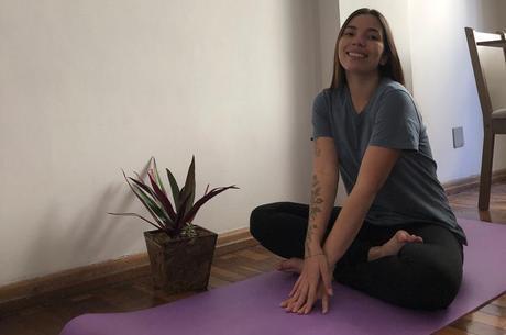 O tapete para praticar yoga trouxe a motivação que faltava
