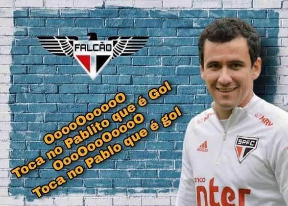 Autor de um dos gols da vitória do Tricolor por 2 a 0, o contestado Pablo protagonizou as zoeiras após a partida da Copa do Brasil. Confira! (Por Humor Esportivo)
