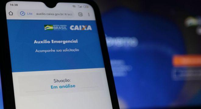 Aplicativo do Caixa Auxílio Emergencial, que permite acompanhar a análise do pedido