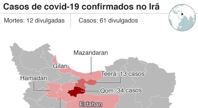 avanço do coronavírus no irã