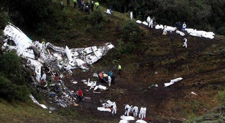 Acidente matou 71 pessoas e grande parte do time finalista da Chapecoense