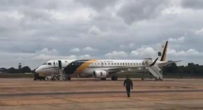 Avião da FAB que foi a Wuhan para buscar os brasileiros que decidiram sair após o coronavírus
