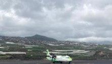 Primeiro voo desde sábado chega à ilha canária de La Palma