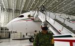 Interior do avião presidencial mexicano que foi posto à venda por Lopez Obrador
