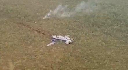 O avião foi localizado após um pouso de emergência