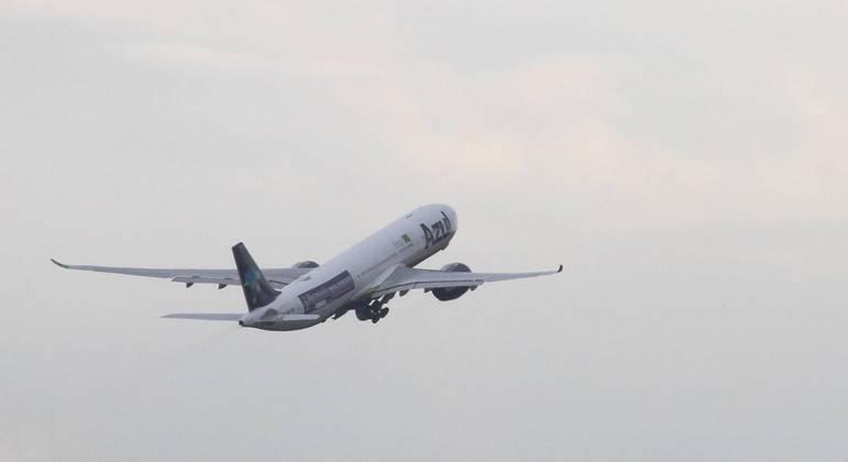 Aeronave decolou do aeroporto de Viracopos em Campinas, interior de São Paulo, na tarde desta quinta-feira (14)
