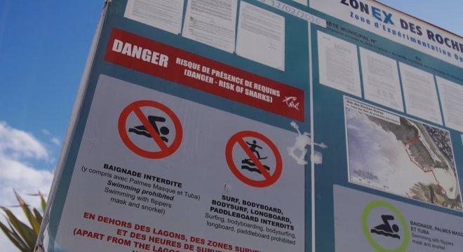A ilha implementou medidas para proteger as pessoas dos ataques de tubarões