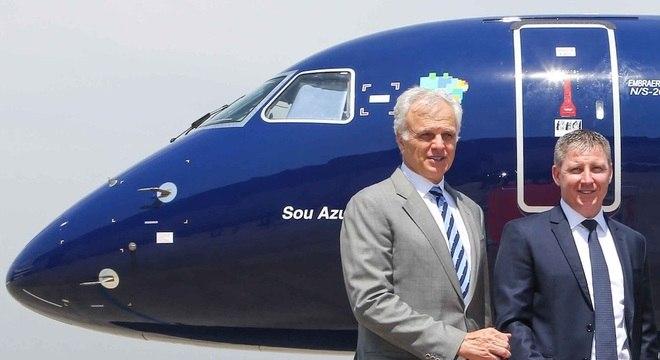 David Neeleman, fundador, e John Rodgerson, CEO da Azul Linhas Aéreas