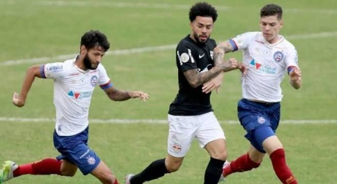 Bahia conseguiu a vitória nos instantes finais, em cabeçada de Ernando