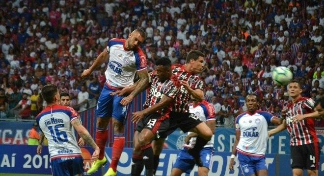 Bahia e São Paulo criaram poucas chances na Arena Fonte Nova