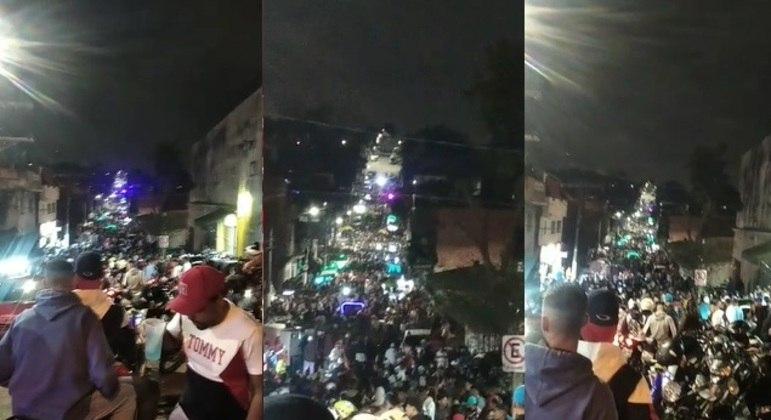 Baile funk no Jardim Miriam, na zona sul de São Paulo