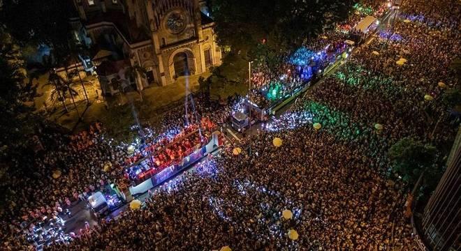 Na foto, desfile do Bloco Acadêmicos do Baixo Augusta, em São Paulo