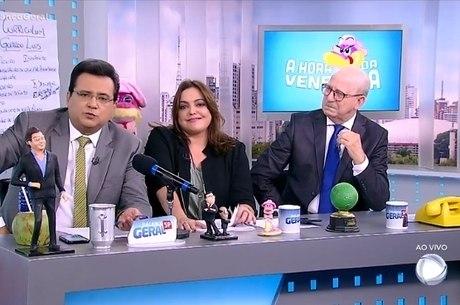 Geraldo, Fabíola e Lombardi no 'A Hora da Venenosa'