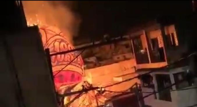 Balão em chamas atinge bairro residencial de Americanópolis, na zona sul de SP