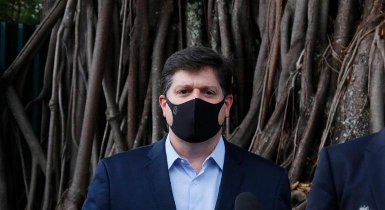 O candidato do bloco organizado por Rodrigo Maia, deputado Baleia Rossi (MDB-SP)